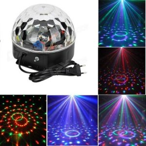 Glob disco cu senzor de muzica