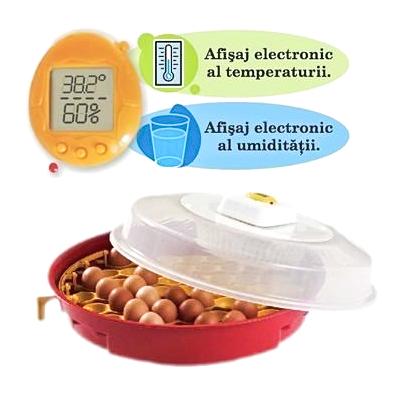 Incubator Oua PUISOR intoarcere Simultana Afisare TemperaturaUmiditate Teox (4)