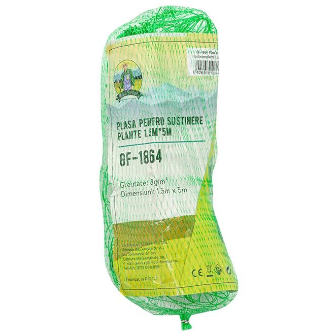 Plasa Sustinere Plante GF-1864, 1.5 x 5 metri, Verde Teox